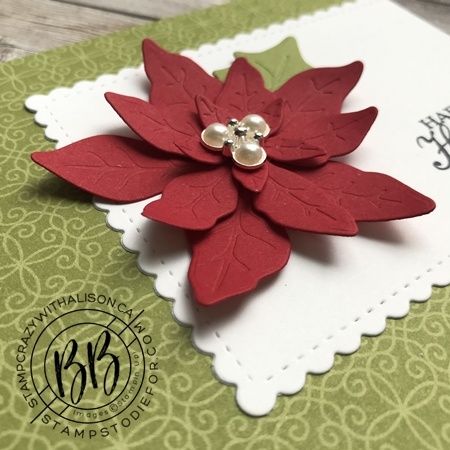 September Border Buddy Free PDF Tutorial Card using Poinsettia Dies by Stampin' Up! 3