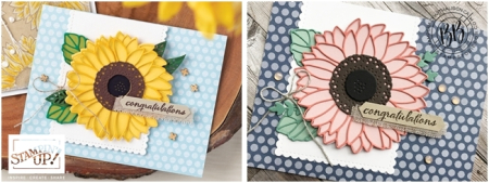 Just in CASE pg 13 Annual Stampin' Up! catalog using the Sunflower Dies horz