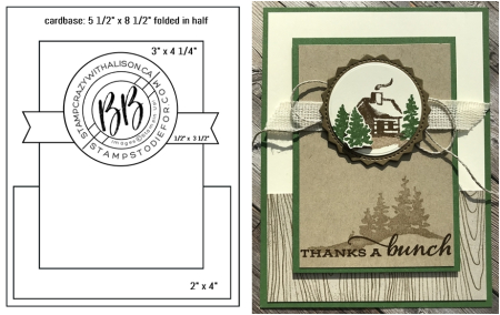 Sunday Sketches card sketches by Border Buddy's Alison Solven and Patsy Waggoner featuring the Snow Front Stamp Set by Stampin' Up! horz