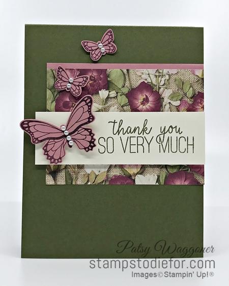 Sunday Sketches Card Sketch using Butterfly Gala & Punch by Stampin' Up! 5-3-2020