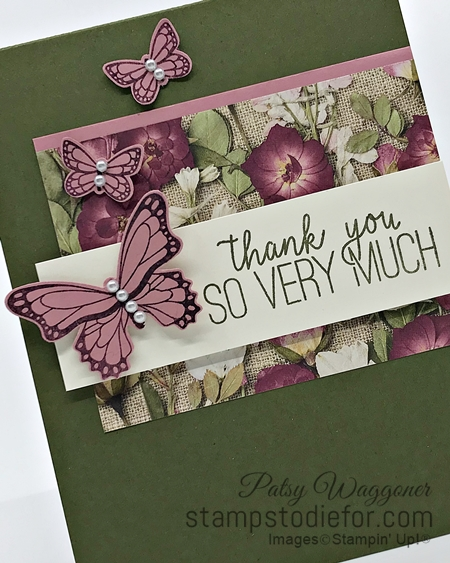 Sunday Sketches Card Sketch using Butterfly Gala & Punch by Stampin' Up! 5-3-2020 slant