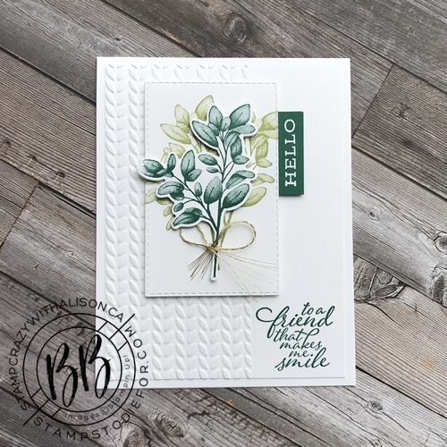 Card stamped with Forever Fern stamp set from the Forever Greenery Suite of products by Stampin' Up!® 2