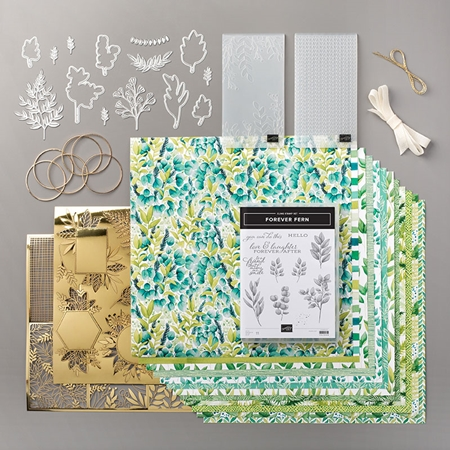 Forever Greenery Suite of products by Stampin' Up! complete