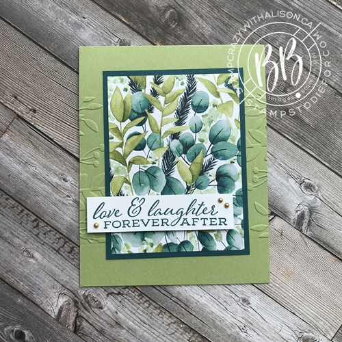 Card stamped with Forever Fern stamp set from the Forever Greenery Suite of products by Stampin' Up!® a