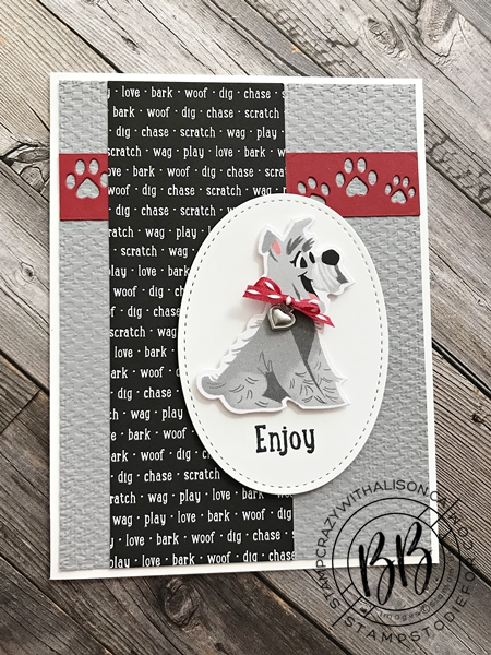 July 2020 Border Buddy PDF Tutorial Playful Pets by Stampin' Up! card 1