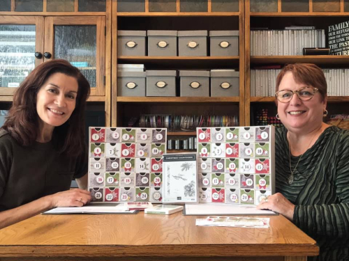 Sue Nelson and Patsy Waggoner Christmas Count Down Advent Boxes Calendar by Stampin' Up!