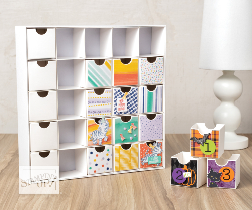 Christmas Count Down Advent Calendar Boxes by Stampin' Up!® Halloween twist