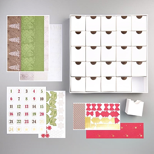 Christmas Count Down Advent Calendar Boxes by Stampin' Up!® Christmas Kit