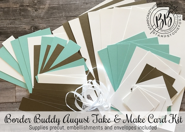 August Take and Make precut supplies Nothing Better Than Stamp Set by Stampin' Up!® supplies