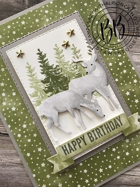 Most Wonderful Time Product Medley by Stampin' Up!® Deer Christmas Card 6
