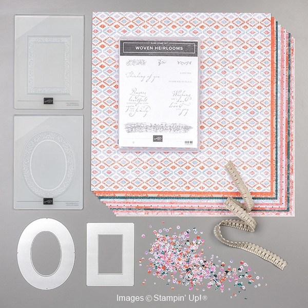 Woven threads suite by Stampin' Up! products included