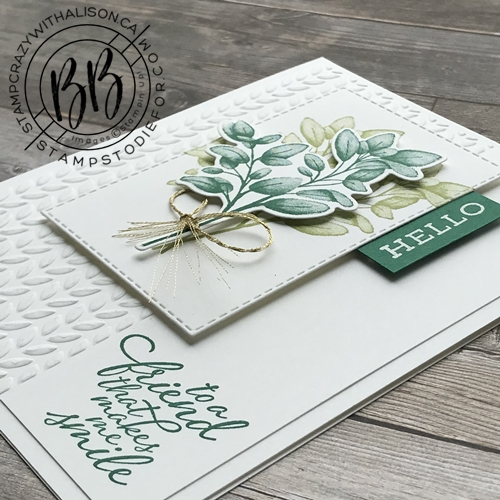 Card stamped with Forever Fern stamp set from the Forever Greenery Suite of products by Stampin' Up!® 4