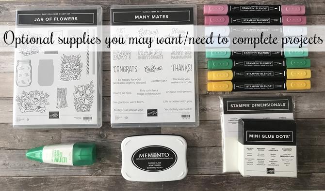 June Make and Take Kit optional Stampin' Up! Supplies