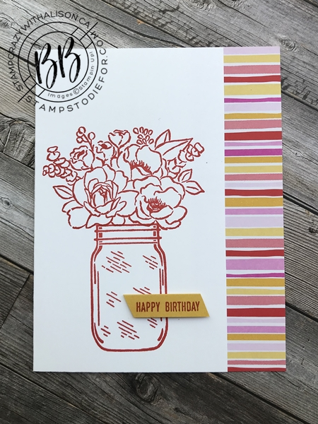 Step Up Cards Jar of Flowers stamp set by Stampin' Up! 1