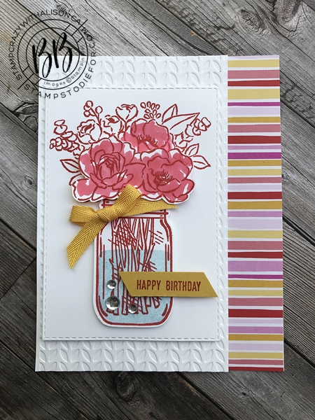 Step Up Cards Jar of Flowers stamp set by Stampin' Up! 3