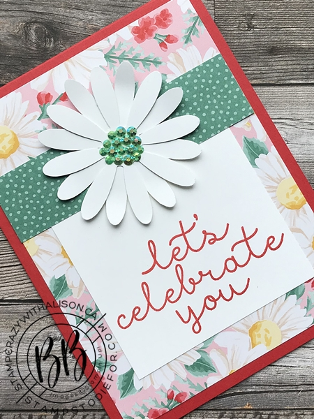 SS018 Flowers for Everyseason paper and Daisy Punch Card slanted