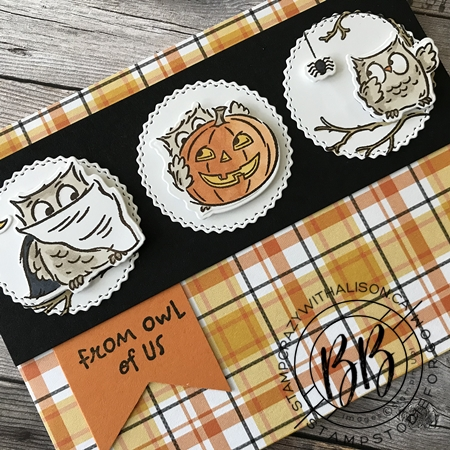 Card created using a card sketch using the Have a Hoot Stamp Set by Stampin' Up!1