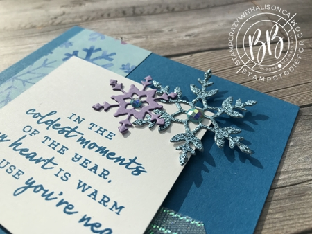Sunday Sketches card sketches by Border Buddy's Alison Solven and Patsy Waggoner Snowflake Splendor Suite of products by Stampin' Up! 2
