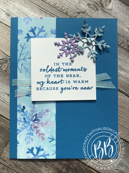 Sunday Sketches card sketches by Border Buddy's Alison Solven and Patsy Waggoner Snowflake Splendor Suite of products by Stampin' Up! 1