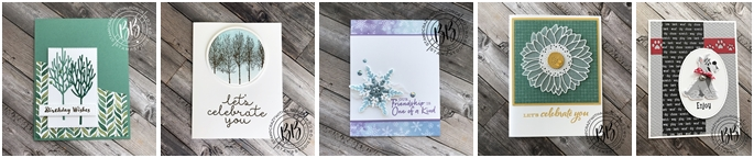 Winter Woods Stamp Set by Stampin' Up! Birthday Card-horz