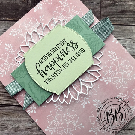 Just in CASE (copy and selectively edit) series card using the Celebrate Sunflwoers and Peaceful Moments stamp set  Hand-Penned DSP and Sunflower and Tasteful Label Dies by Stampin' Up! (2)