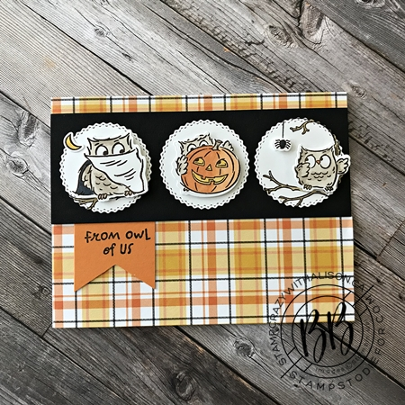 Card created using a card sketch using the Have a Hoot Stamp Set by Stampin' Up!