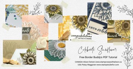 October PDF Tutorial Celebrate Sunflowers Collage