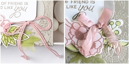 Friend card CASED from page 12 of the Jan-June 2021 Mini catalog using the Bloom & Grow stamp set & Love You Always Specialty paper by Stampin' Up! ribbons