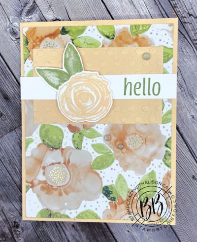 Expressions in Ink Suite by Stampin' Up!  card features Artistically Inked Stamp Set and Artistic Dies and the Designer Series Paper z