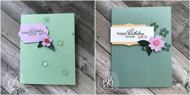Hand Stamped CASED card created by our four year old granddaughter using Stampin' Up! papercrafting products and Mine