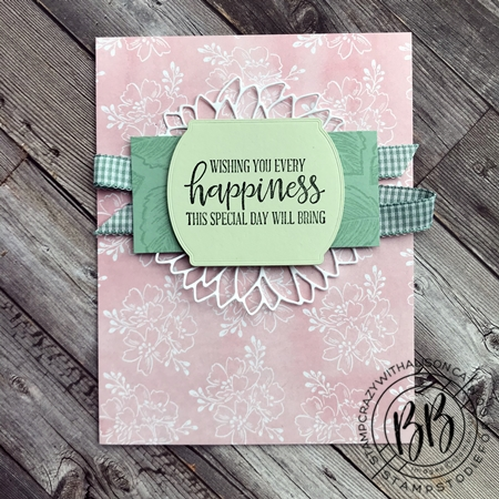 Just in CASE (copy and selectively edit) series card using the Celebrate Sunflwoers and Peaceful Moments stamp set  Hand-Penned DSP and Sunflower and Tasteful Label Dies by Stampin' Up!