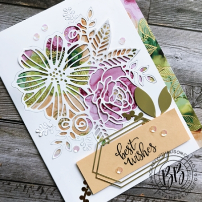 Expressions in Ink Suite by Stampin' Up!  card features Artistically Inked Stamp Set and Artistic Dies and the Designer Series Paper 2 (2)