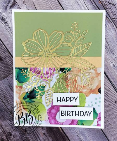 Expressions in Ink Suite by Stampin' Up!  card features Artistically Inked Stamp Set and Artistic Dies and the Designer Series Paper (2)