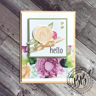 Expressions in Ink Suite by Stampin' Up!  card features Artistically Inked Stamp Set and Artistic Dies and the Designer Series Paper