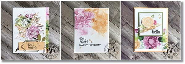 Expressions in Ink Suite by Stampin' Up!  card features Artistic Dies and the Designer Series Paper-horz