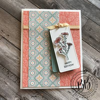 Border Buddy Sunday Sketch Card Series featuring the Nature's Harvest stamp set by Stampin' Up!